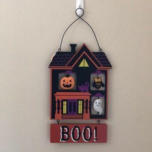 Halloween pumpkin ghost owl reversible wall decor